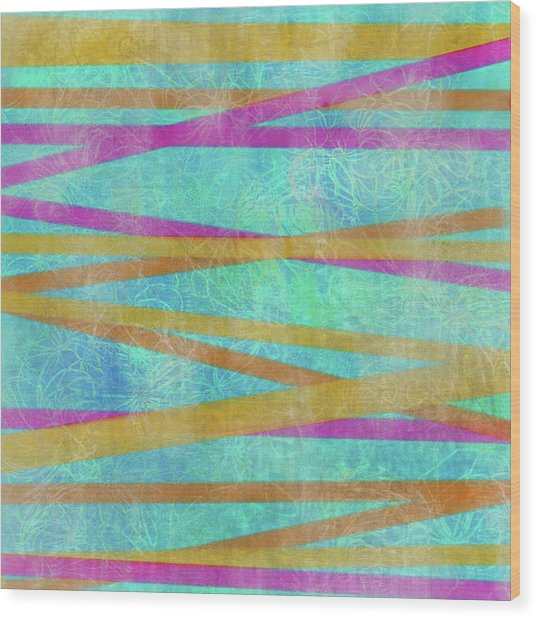 Malaysian Tropical Batik Strip Print Wood Print