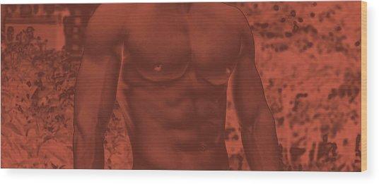 Male Torso Wood Print