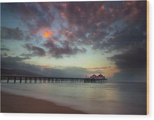 Malibu Pier IIi Wood Print