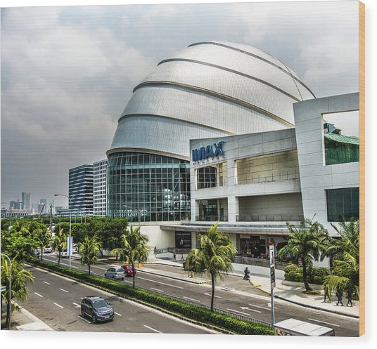 Wood Print featuring the photograph Mall Of Asia 4 by Michael Arend
