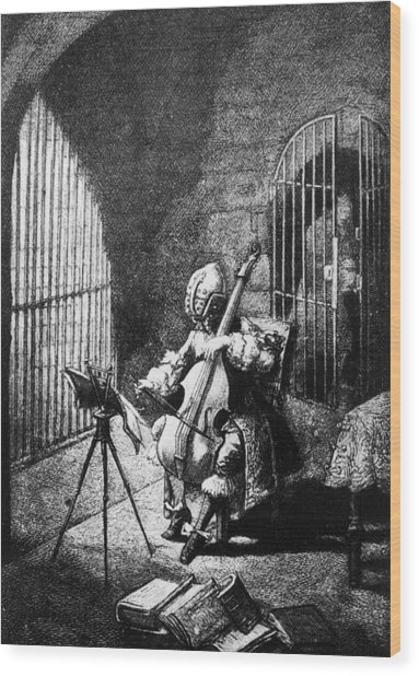 Man In The Iron Mask Wood Print by Hulton Archive
