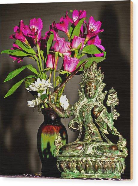 Manjushri- Bodhisattva Of Wisdom Wood Print