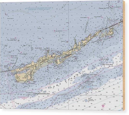 Marathon And Duck Keys Custom Noaa Nautical Chart Wood Print