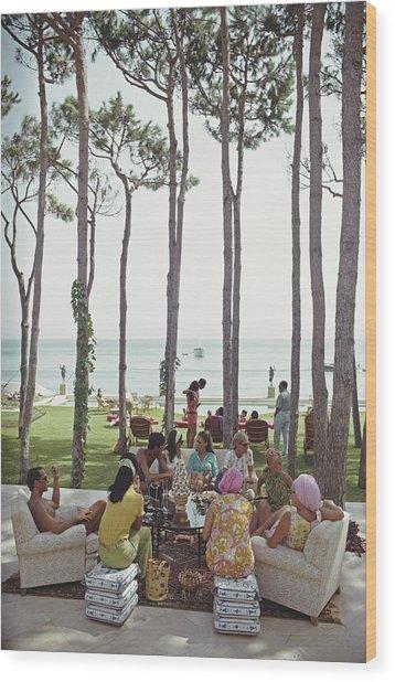 Marbella House Party Wood Print by Slim Aarons
