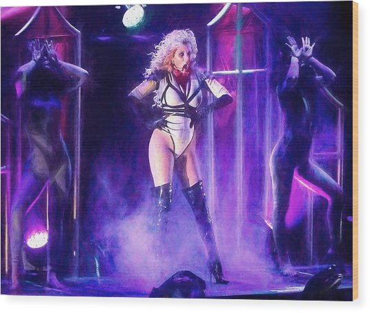 Maria Brink Of In This Moment Wood Print