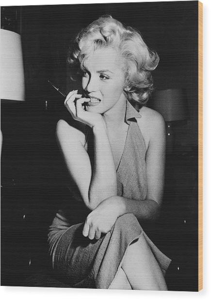 Marilyn Monroe Wood Print by Keystone Features