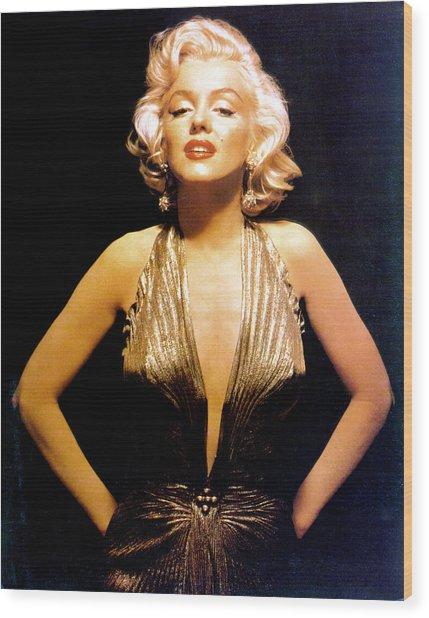 Marilyn Monroe Portrait Wood Print by Michael Ochs Archives