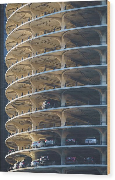 Marina City Gold Wood Print