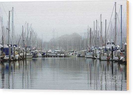 Marina Fog Makes Its Exit Wood Print