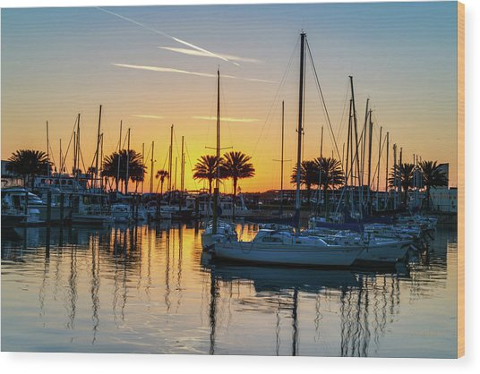 Marina Sunrise-1 Wood Print