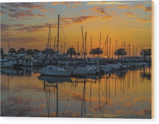 Marina Sunrise-3 Wood Print