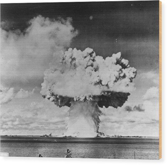 Marine Explosion Wood Print by Keystone