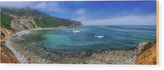Marine Layer Over Bluff Cove Panorama Wood Print