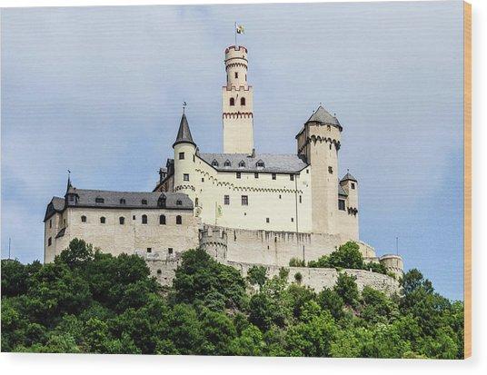 Marksburg Castle Wood Print