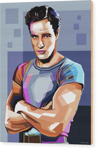 Marlon Brando Wood Print