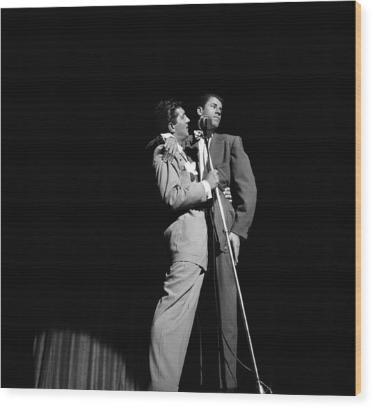 Martin And Lewis At The Paramount Wood Print by Donaldson Collection