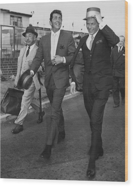 Martin And Sinatra Wood Print