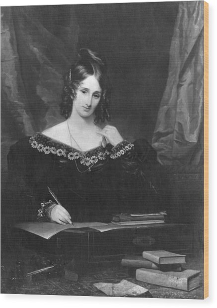 Mary Shelley Wood Print by Hulton Archive