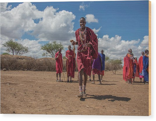 Maasai Welcome Wood Print