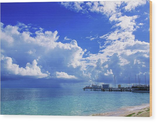 Massive Caribbean Clouds Wood Print