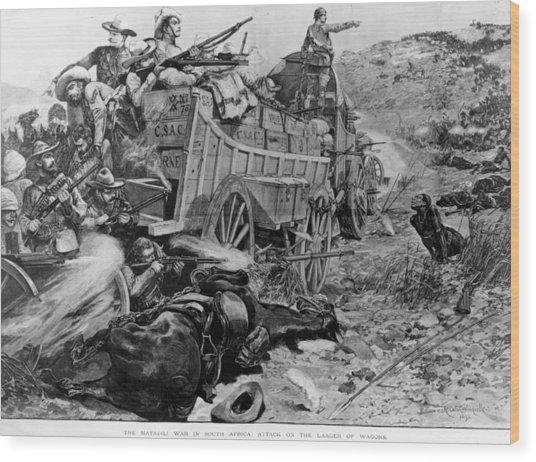 Matabele War Wood Print by Hulton Archive