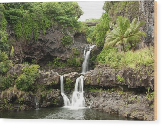 Maui&8217s Seven Sacred Pools Wood Print