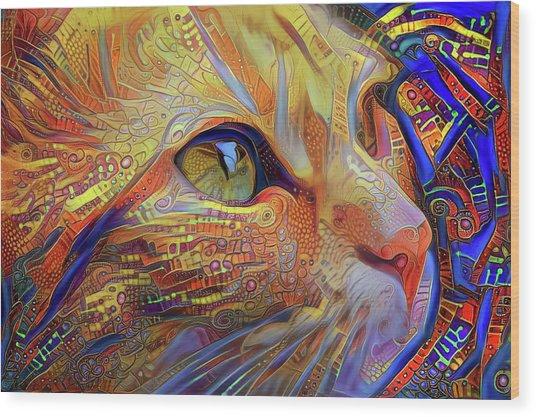 Max The Ginger Cat Wood Print