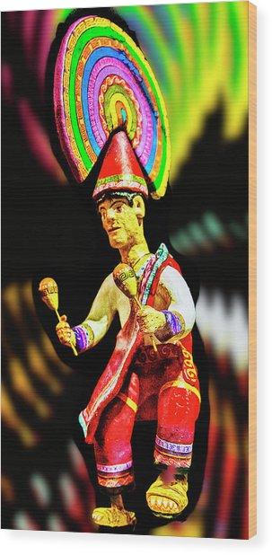Mayan Dancer Wood Print