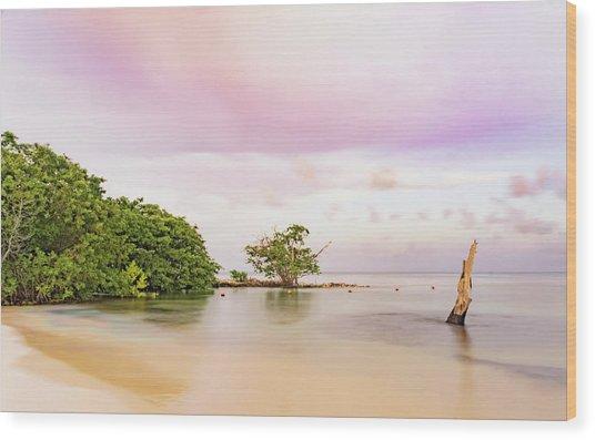 Mayan Sea Wood Print
