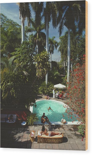 Mazatlan Mansion Wood Print