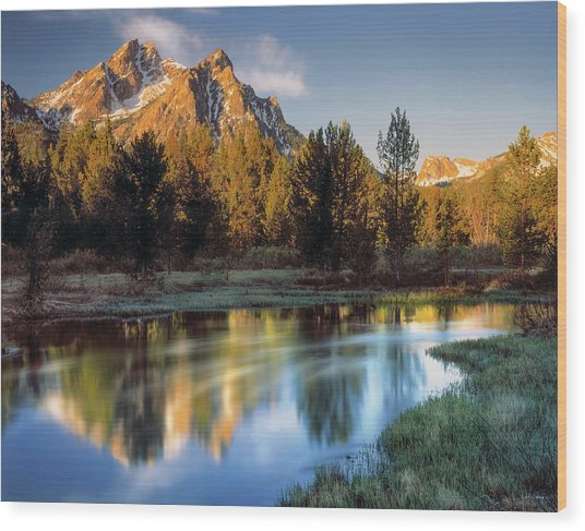 Mcgown Peak Sunrise  Wood Print