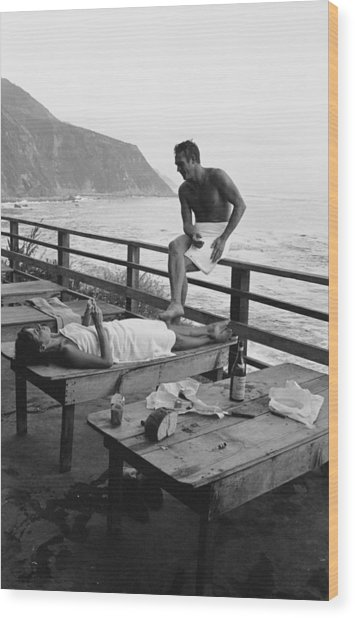 Mcqueen & Adams Relax In Big Sur Wood Print