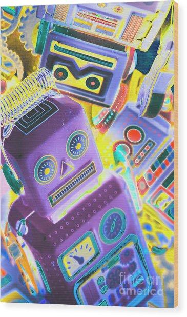 Mechanic Al Pop-art Wood Print