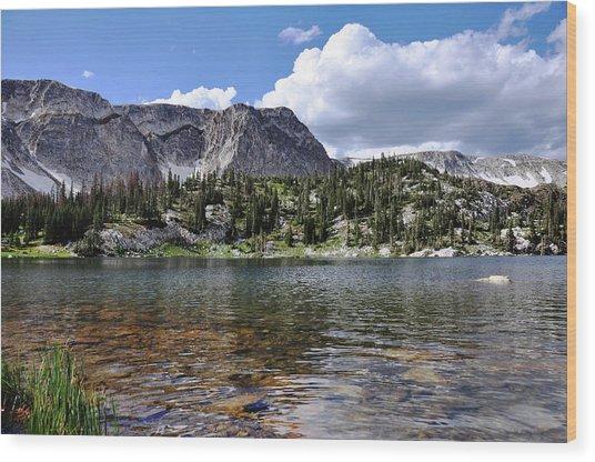 Medicine Bow Peak And Mirror Lake Wood Print