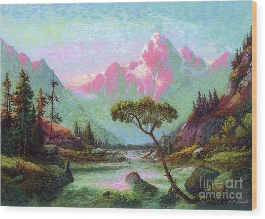 Serenity Meditation Wood Print
