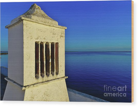 Mediterranean Chimney In Algarve Wood Print