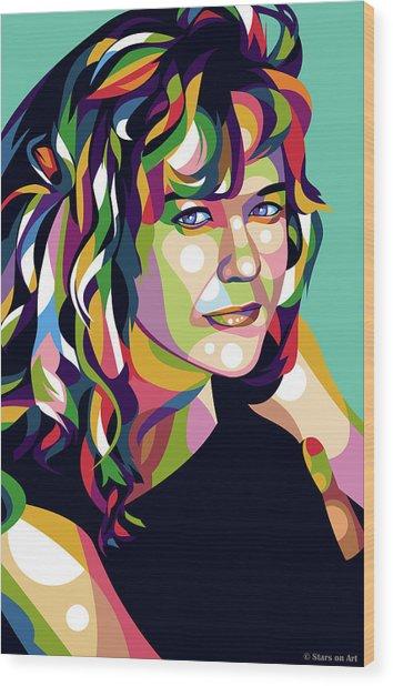 Meg Ryan Wood Print