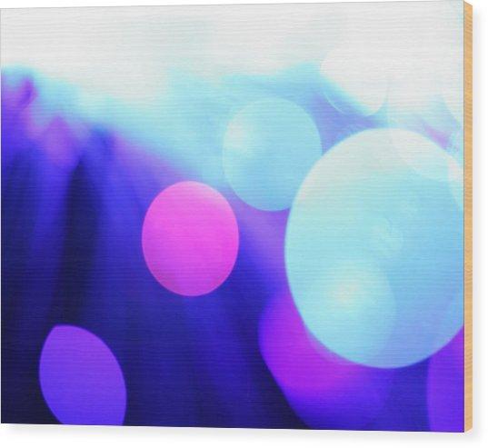 Mega Blue Light Background Wood Print