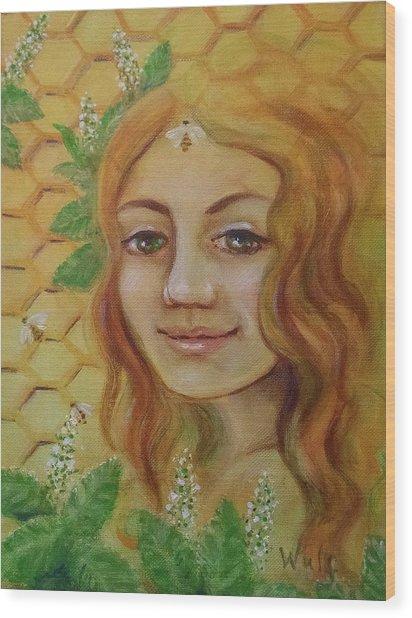 Melissa - Bee Goddess Wood Print
