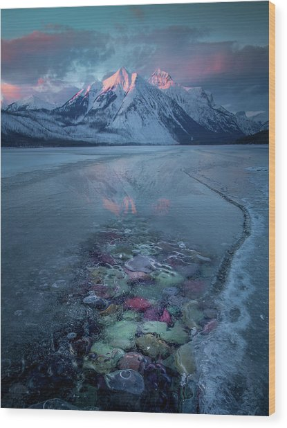 Melt, Freeze, Repeat / Late Winter / Lake Mcdonald, Glacier National Park  Wood Print