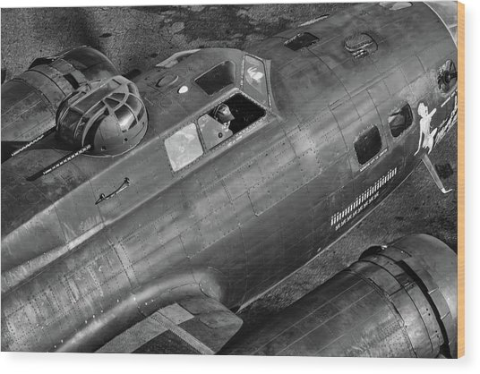 Memphis Belle From On High Wood Print