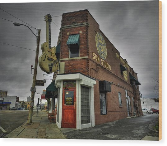 Wood Print featuring the photograph Memphis - Sun Studio 004 by Lance Vaughn
