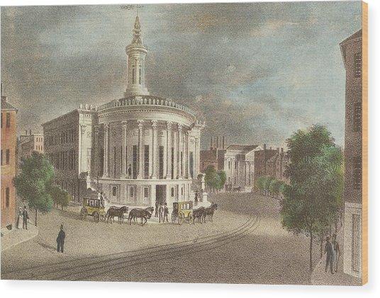 Merchants Exchange, 1838 Wood Print