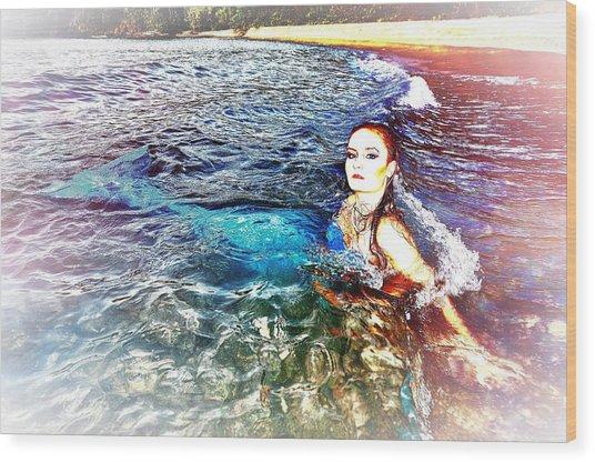 Mermaid Shores Wood Print