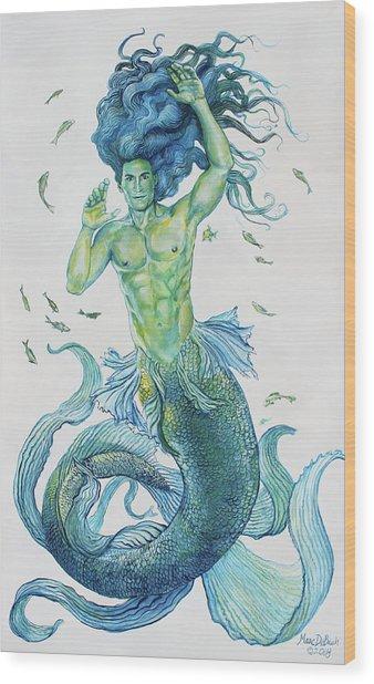 Merman Clyde Wood Print