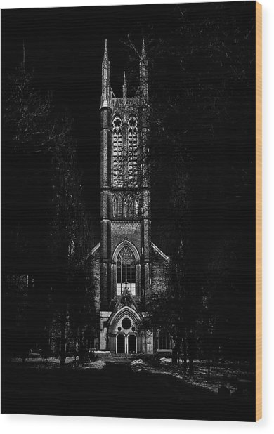 Wood Print featuring the photograph Metropolitan United Church Toronto Canada 3 by Brian Carson