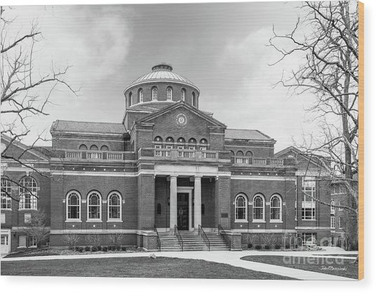 Miami University Alumni Hall Wood Print