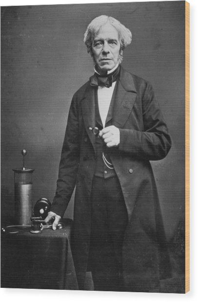 Michael Faraday Wood Print by Hulton Archive