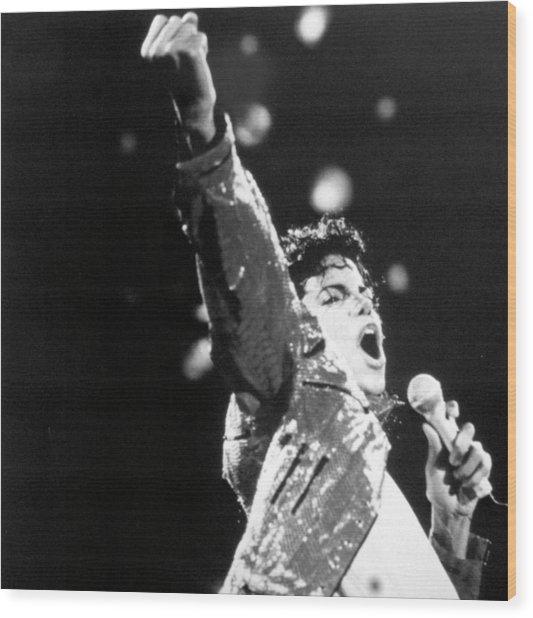 Michael Jackson Wood Print by Afro Newspaper/gado