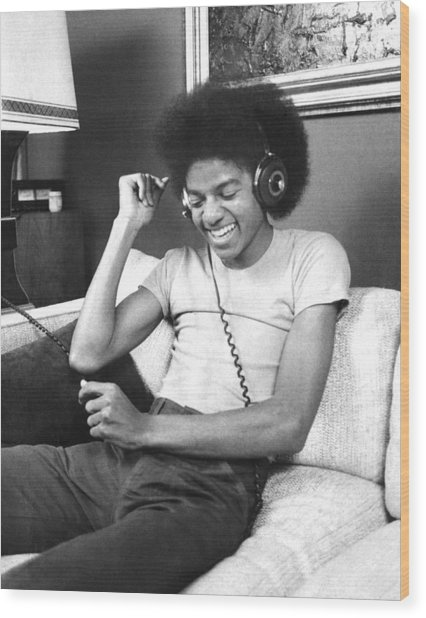 Michael Jackson, The Lead Singer Of Wood Print